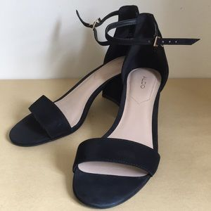 Aldo Villarosa upper black heel sandals